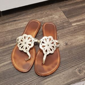 Nine West Gold and Brown Sandals